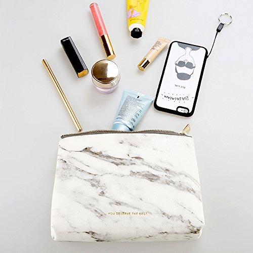 Marble Makeup Bag Cosmetic Bag Makeup Pouch Origanizer ,Pu L