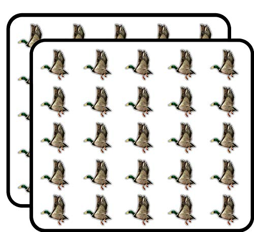 - Male Mallard Duck Art Decor Sticker for Scrapbooking, Calendars, Arts, Kids DIY Crafts, Album, Bullet Journals 50 Pack