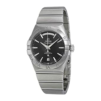 ebf045535743 Amazon.com  Omega Constellation Day Date Automatic Black Dial ...