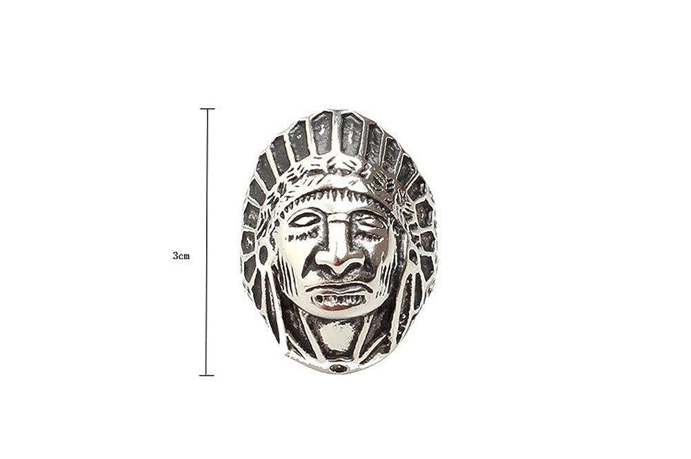 PAURO Hommes Acier Inoxydable Bagues Indiennes