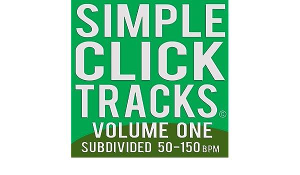 Simple Click Tracks Vol  1, 50-150 Bpm Subdivided (mp3