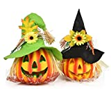 Crusar Halloween Decoration Pumpkin Light Toys For Children House Party Decor 2pcs