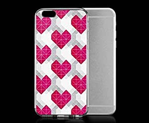 Light weight with strong PC plastic case for iphone 6 plusd 5.5 Art Love Heart Pattern