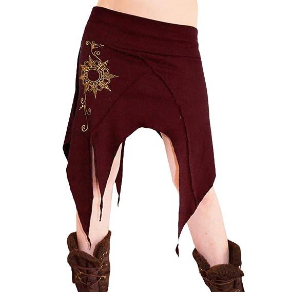 Mujer Falda Estampada - Cintura Elástica Florales Swing Falda ...
