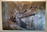 Bugling Elk Metal Art - Rocky Mountain Elk - Reclaimed Wood and Aged Steel - 29x45 - by Legendary Fine Art