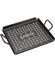 Lodge CRSGP12 Carbon Steel Grilling Pan, Pre-Seasoned, 12-inch