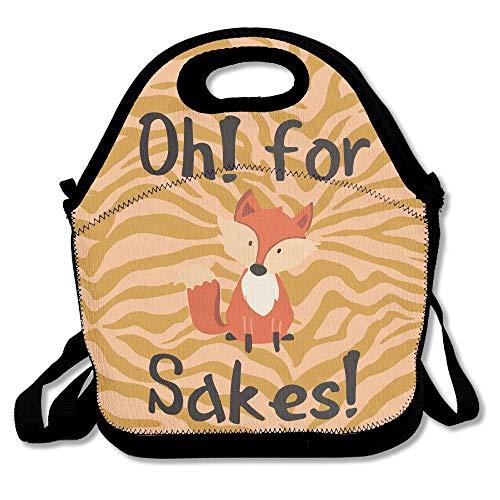 Pineapple Sake - OH For Fox Sake Lunch Bag Tote Handbag Lunchbox For School Work Outdoor