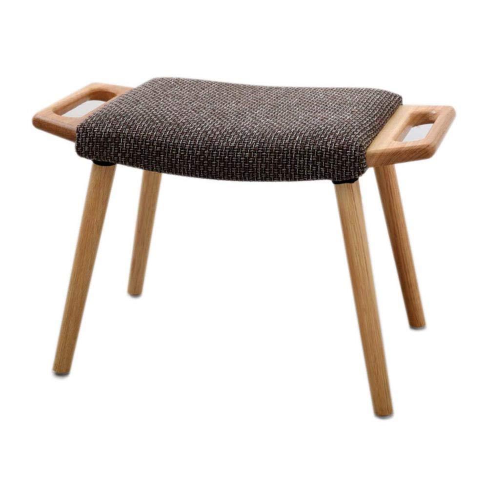 FENGFAN 純木の小さいベンチのオスマンスツールの変更の靴のスツールのフットスツールの生地のソファーのスツール (色 : A)  A B07RM577GN