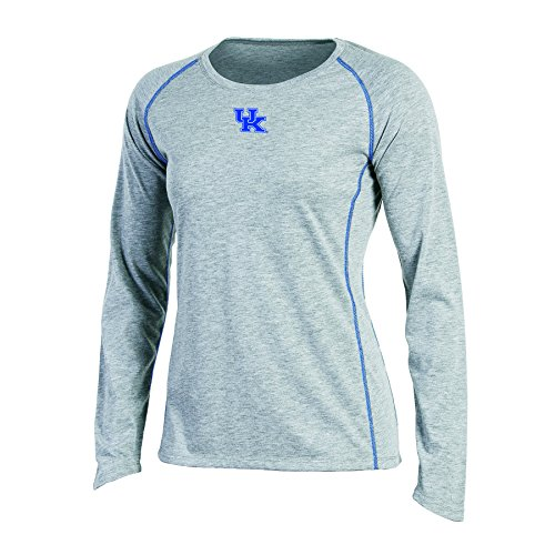 s Long sleeve Crew Neck Raglan T-Shirt, Kentucky Wildcats, Medium, Gray Heather ()