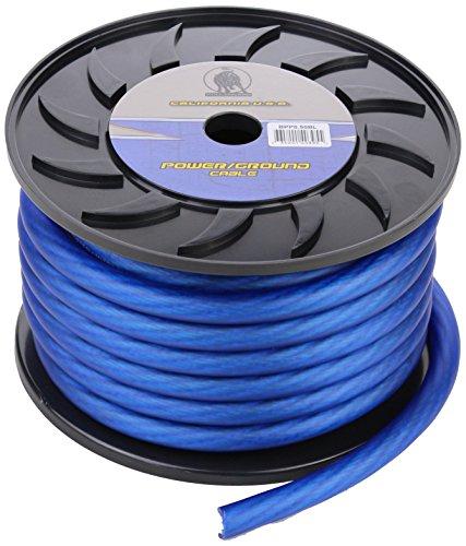 Bullz Audio (BPP0.50BL) PRO Blue 50' 1/0-Gauge Power Cable