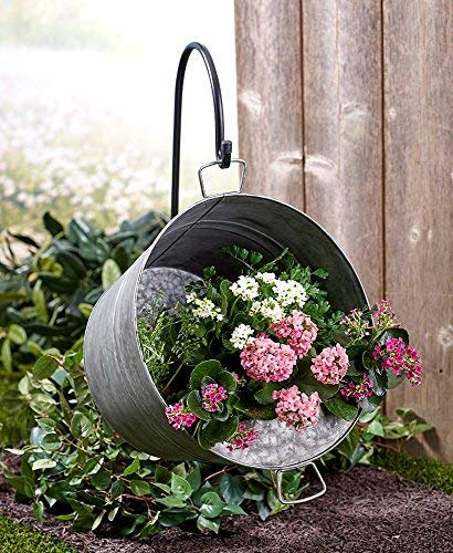 The Lakeside Collection Hanging Pail Planter with -
