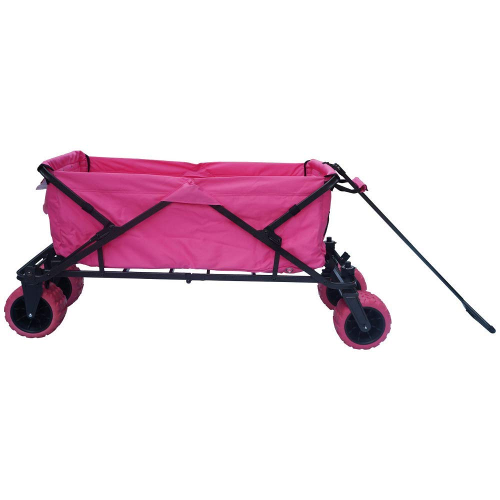 Impact Canopy Folding Collapsible Utility Wagon with All-Terrain Wheels, Pink by Impact Canopy
