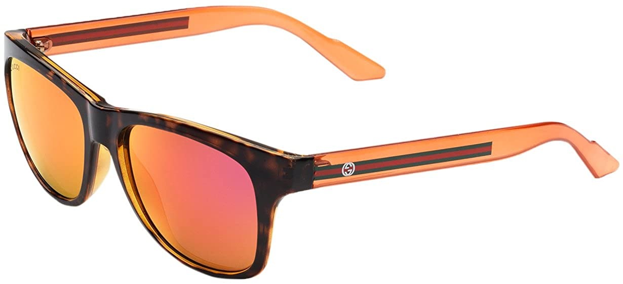f64a8f5fb934e Amazon.com  Gucci sunglasses GG 3709 S CHYUZ Acetate Havana - Transparent  Orange Brown with Red mirror effect  Clothing