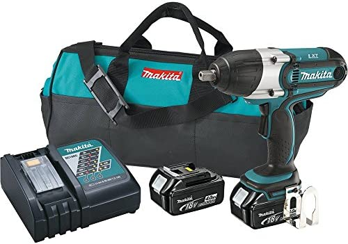 Makita XWT04M 18V LXT Lithium-Ion Cordless High Torque Impact Wrench Kit, 1 2-Inch Discontinued by Manufacturer