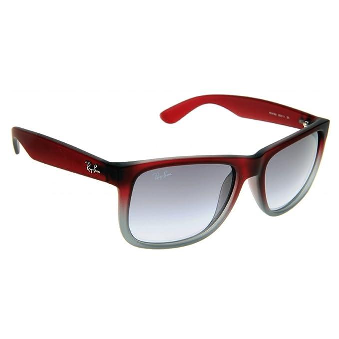 Ray-Ban Justin RB4165 Non-Polarized - Gafas de sol Unisex, Rojo, 55 mm