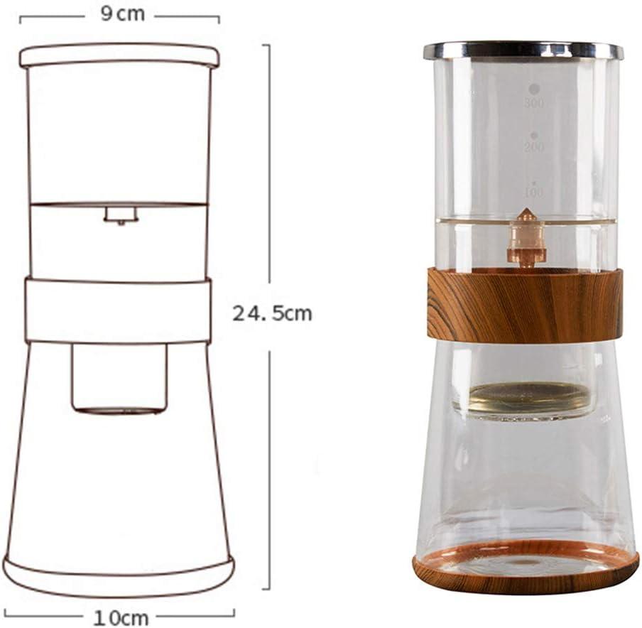 Cafetera de goteo frío, cafetera de goteo de cerveza fría, vaso de goteo de hielo ajustable Duth Máquina de café de goteo frío para café de cerveza fría (2-4 tazas / 400