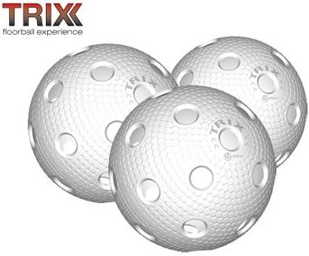 Trix floorball/Floor balón de 3er pack bola de partido blanco ...
