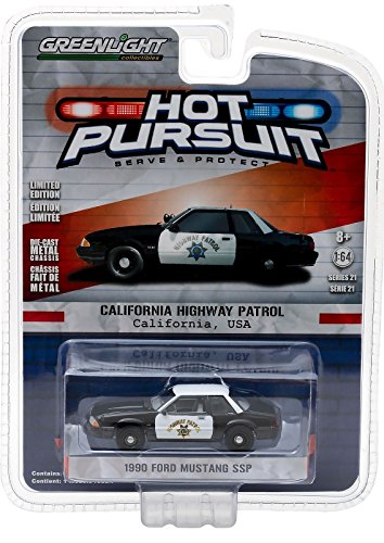 GreenLight 1:64 Hot Pursuit Series 21 1990 Ford Mustang Sap