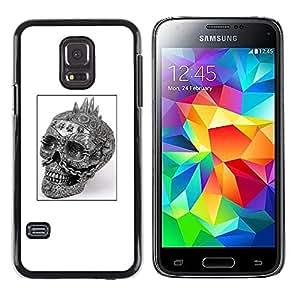 Be Good Phone Accessory // Dura Cáscara cubierta Protectora Caso Carcasa Funda de Protección para Samsung Galaxy S5 Mini, SM-G800, NOT S5 REGULAR! // Punk Skull Black White Poster B
