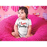 I Love Daddy Bodysuit For Baby Valentine's Day Gift Father's Day Gift for Baby Girl