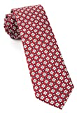 The Tie Bar 100% Printed Silk Twill South Padre Geos Red 3 Inch Tie