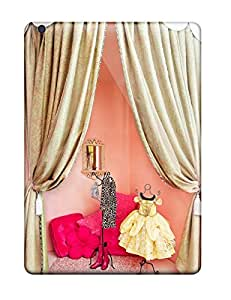 High Quality YNPWApw9798NLbez Girl8217s Room Dressing Area Or Play Stage With Pink Walls And Gold Curtains Tpu Case For Ipad Air