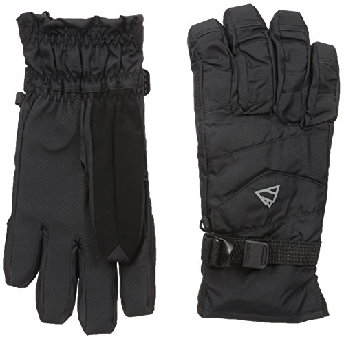 GII Men's 2-In-1 Ski Gloves with Thinsulate Insulation and Removable Fleece Liner, Black, X-Large