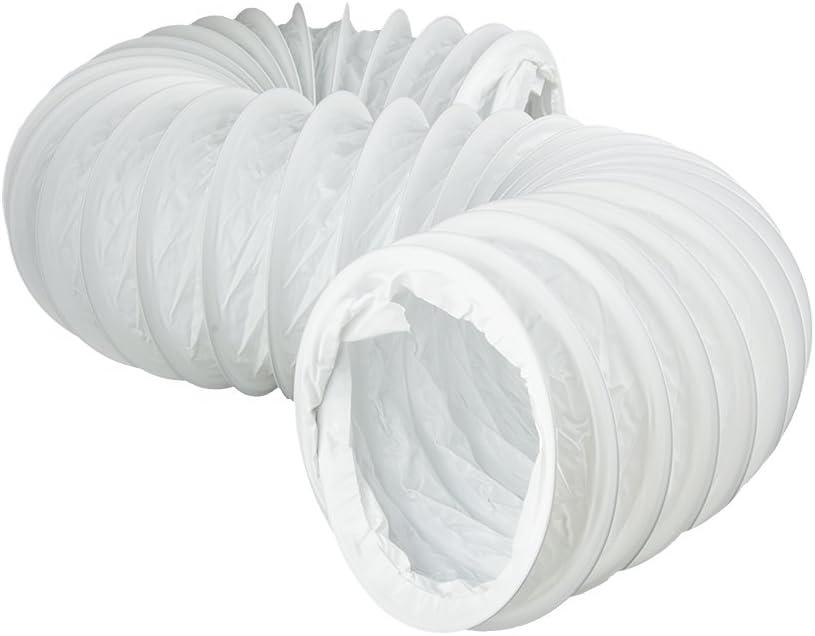 Rundrohrsystem PVC L/üftungsrohr Flexschaluch Bindeglieder Bogen Kniest/ück Verbinder R/ückstauklappe T-St/ück Reduktion Halter Adapter /Ø 125, Flexschaluch 3,0m