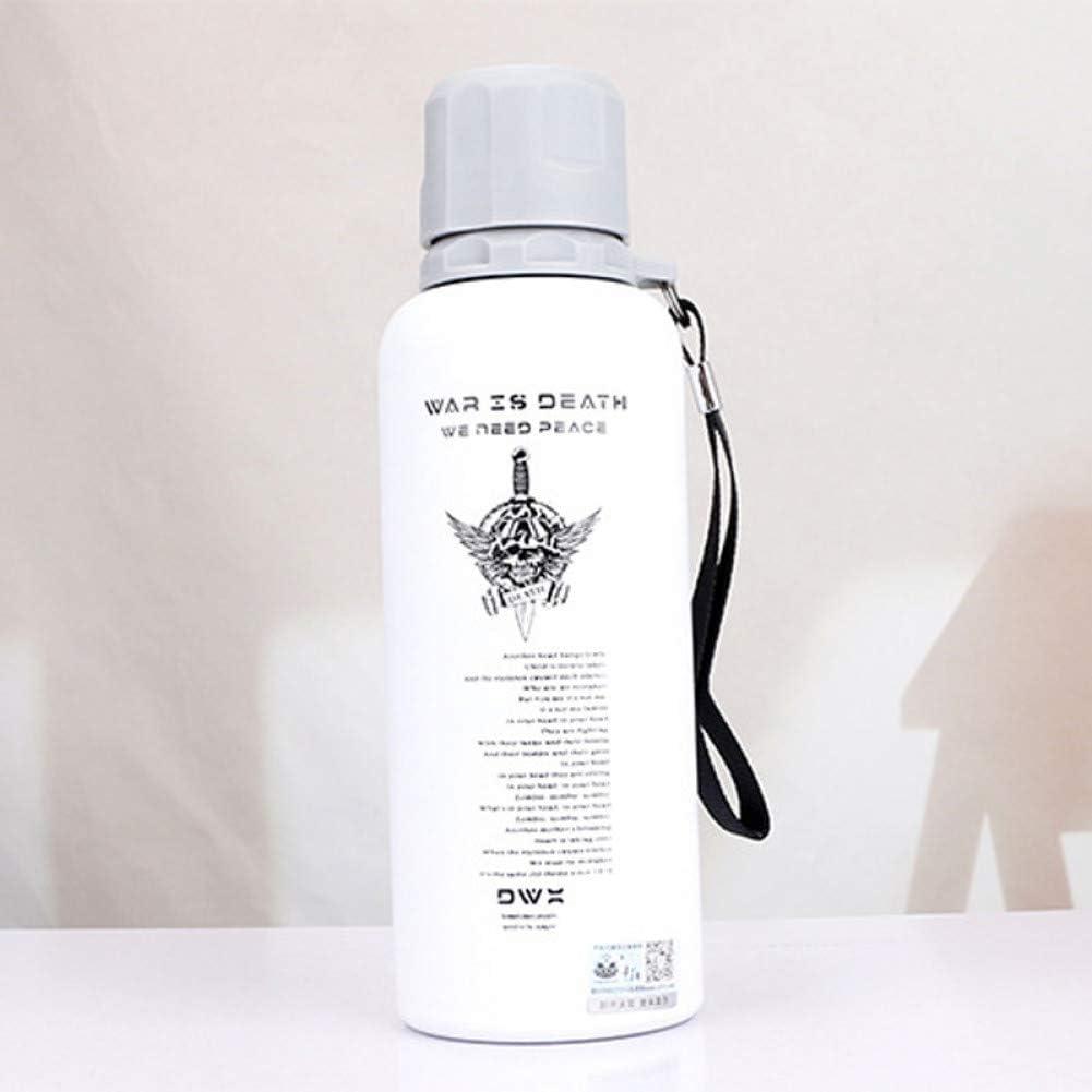 SWXC 500Ml Camo Soldado Taza térmica Frasco de vacío Botella de Agua Acero Inoxidable Aislamiento térmico Botella de Bebida Termo Aspiradora Portátil