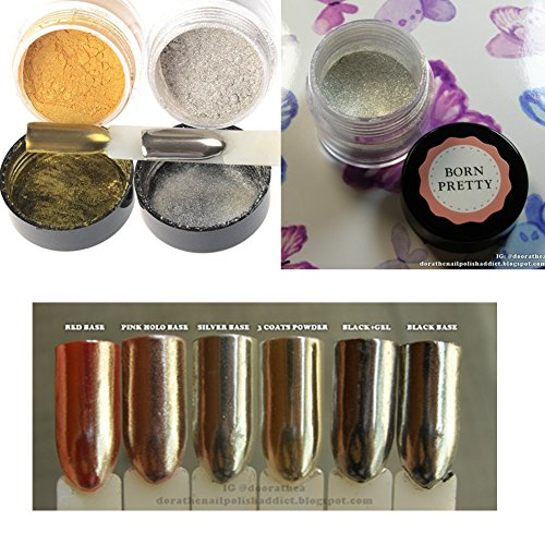 Born Pretty 1 box Mirror Nail Glitter Powder Gorgeous Nail Art Chrome Pigment Glitters
