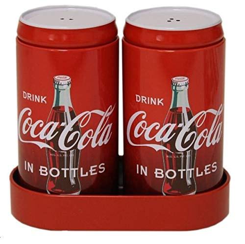 - 3 Pk. Coca-Cola Salt and Pepper Shakers with Caddy