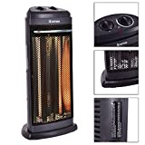 Electric Infrared Quartz Space Heater Portable Radiant Fire Tower...