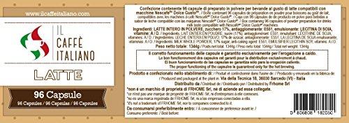 Il Caffè italiano 96 Nescaf Dolce Gusto Compatible Coffee Capsule- Milk- 96 X Coffee Capsules/Pods Espresso Compatible Nescaf Dolce Gusto - (Pack Of 6 Total ...