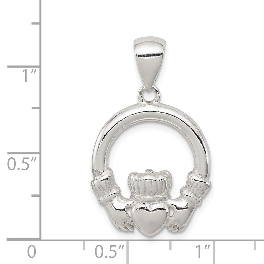 Sterling Silver Claddagh Pendant Hollow Pendants /& Charms Jewelry