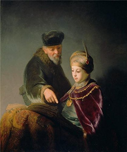 [The Perfect Effect Canvas Of Oil Painting 'A Young Scholar And His Tutor, About 1629 - 1630 By Rembrandt Harmensz Van Rijn' ,size: 16x19 Inch / 41x48 Cm ,this High Definition Art Decorative Prints On Canvas Is Fit For Kitchen Artwork And Home Decoration And] (Van Gun X Sword Costume)
