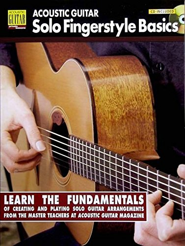 Guitar Acoustic Private Basics - Acoustic Guitar Solo Fingerstyle Basics: Book with Online Audio (Acoustic Guitar Private Lessons)