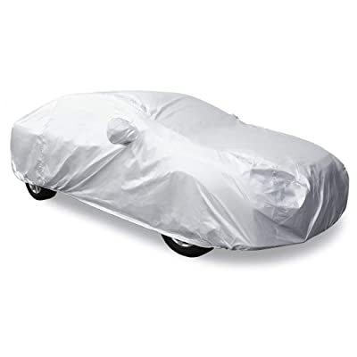 uxcell 3XL Silver Tone 170T Car Cover Outdoor Weather Waterproof Scratch Rain Snow Heat Resistant W Mirror Pocket: Automotive [5Bkhe0407727]