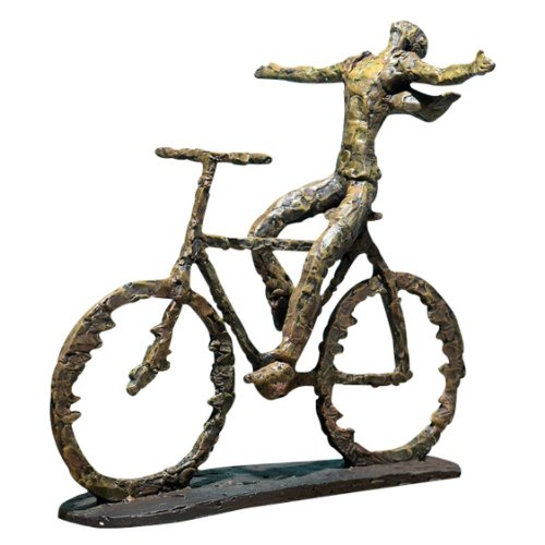 Contemporary Modern Cyclist Bicycle Sculpture