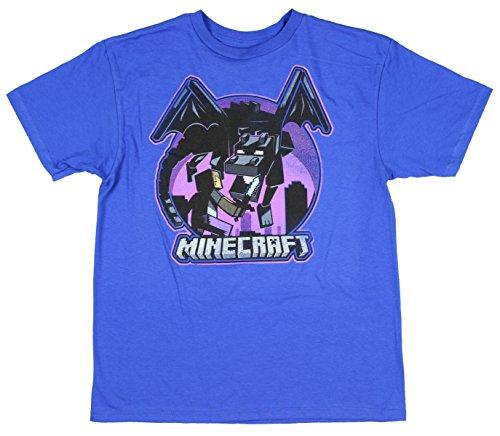 Minecraft Enderdragon Battle Boys Youth T-shirt (X-Small, 4/5) (Minecraft Kids Hoodie)