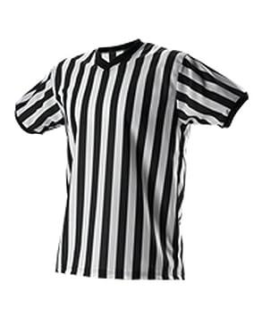 V Árbitro De Funcionarios Rayas Parte Alleson Camiseta Adulto Cuello XkuZOPi