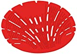Big D 625 The Pearl 3D Urinal Screen, Apple-Cinnamon Fragrance, Red (Pack of 10) - Anti-splash texture - Lasts up to 45 days - Ideal for restrooms in offices, schools, restaurants, hotels, stores