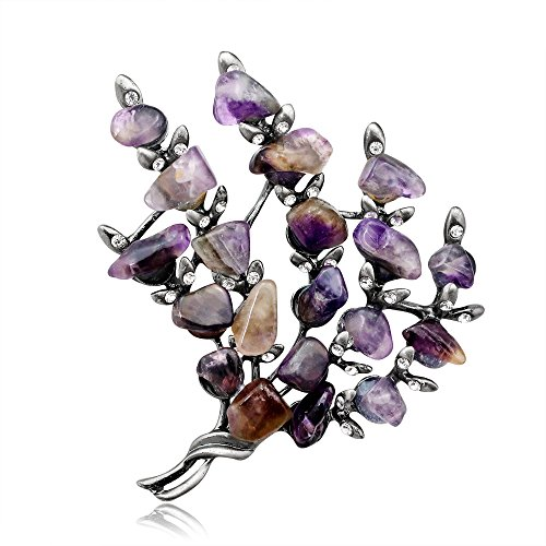 Ezing Vintage Women Brooches Pins Jewelry Tree Twig Stone Beads - Tree Twig Jewelry