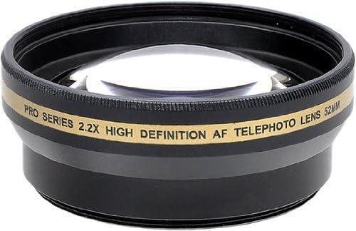 Pro Series 52mm 2.2X High Definition AF Telephoto Lens Microfiber Cloth for Nikon D3000 D3100 D3200 D3300 D5000 D5100 D5200 D5500 D7000 D7100 D7200 D600 D610 D700 D800 D90 DSLR and More Models