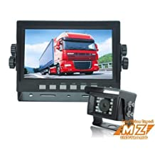 "Rear View Backup Reverse Camera System Rear Vision System, 7"" LCD Monitor+one Waterproof Ir Color Camera for Oversize Load, Farm Equipment, Forklift, Coach Bus"