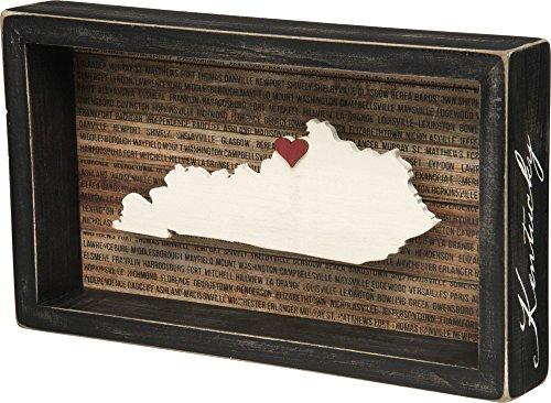 Primitives by Kathy Wanderlust Box Sign, 11.25 x 6.5, Kentucky