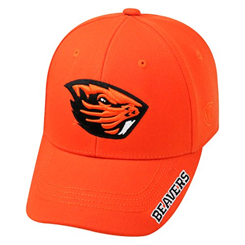 State Fitted Cap - Top of the World NCAA-Premium Collection-One-Fit-Memory Fit-Hat Cap-Oregon State Beavers