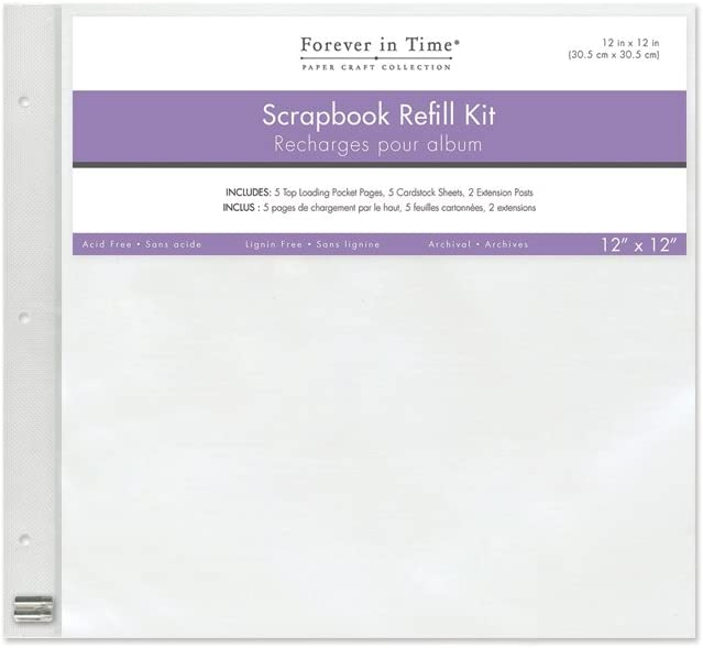 12-Inch x 12-Inch Forever in Time PC040Forever in Time Post Bound Album Refill Pack