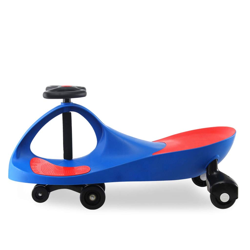 Kinder Twist Auto,Swing Car Toy Swing Wiggle Kreisel Swivel Roller Spaß Geschenk Kinder Tragbare Indoor Outdoor Use Blau