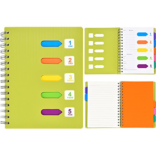 A5 Notebook With Dividers - 9