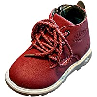 Clearance! Baby Kids Boots Girl Boy Shoes Side Zipper Short Ankle Hiking Winter Snow Booties